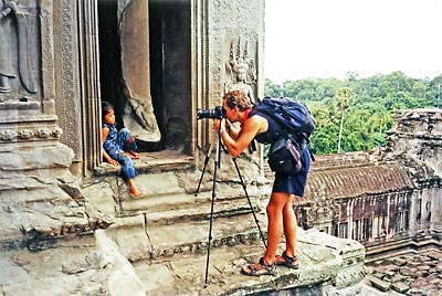 Photographing at Angkor Wat